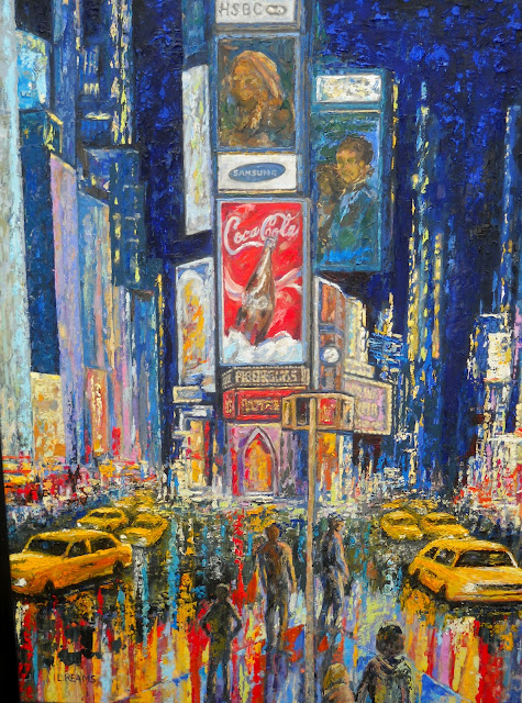 Painting of New York by Lee Reams