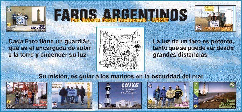 LOS FAROS ARGENTINOS por ROBERTO - LU5EUV