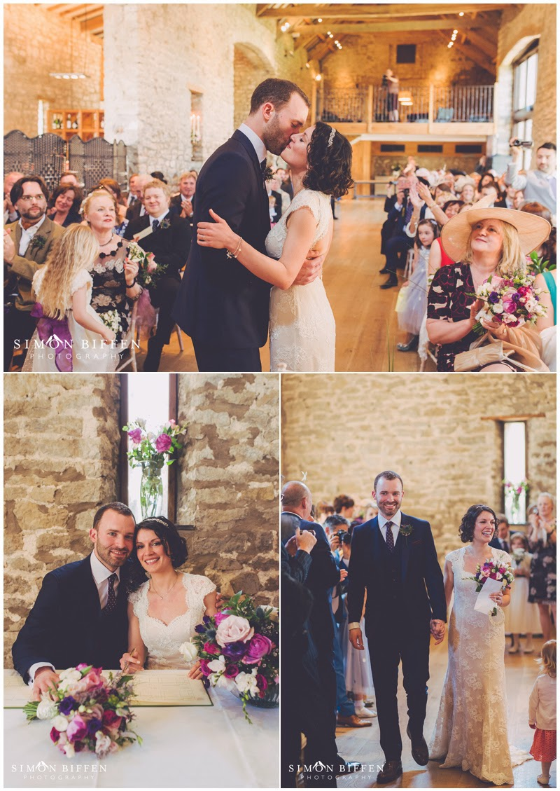 Just married at Priston Mill wedding