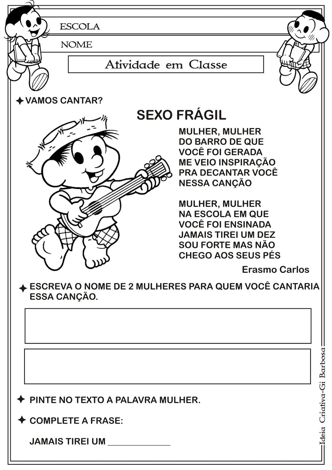 Dia Internacional da Mulher  Música Erasmo Carlos