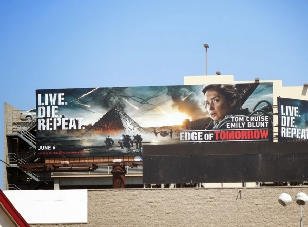 Emily Blunt Edge of Tomorrow movie billboard