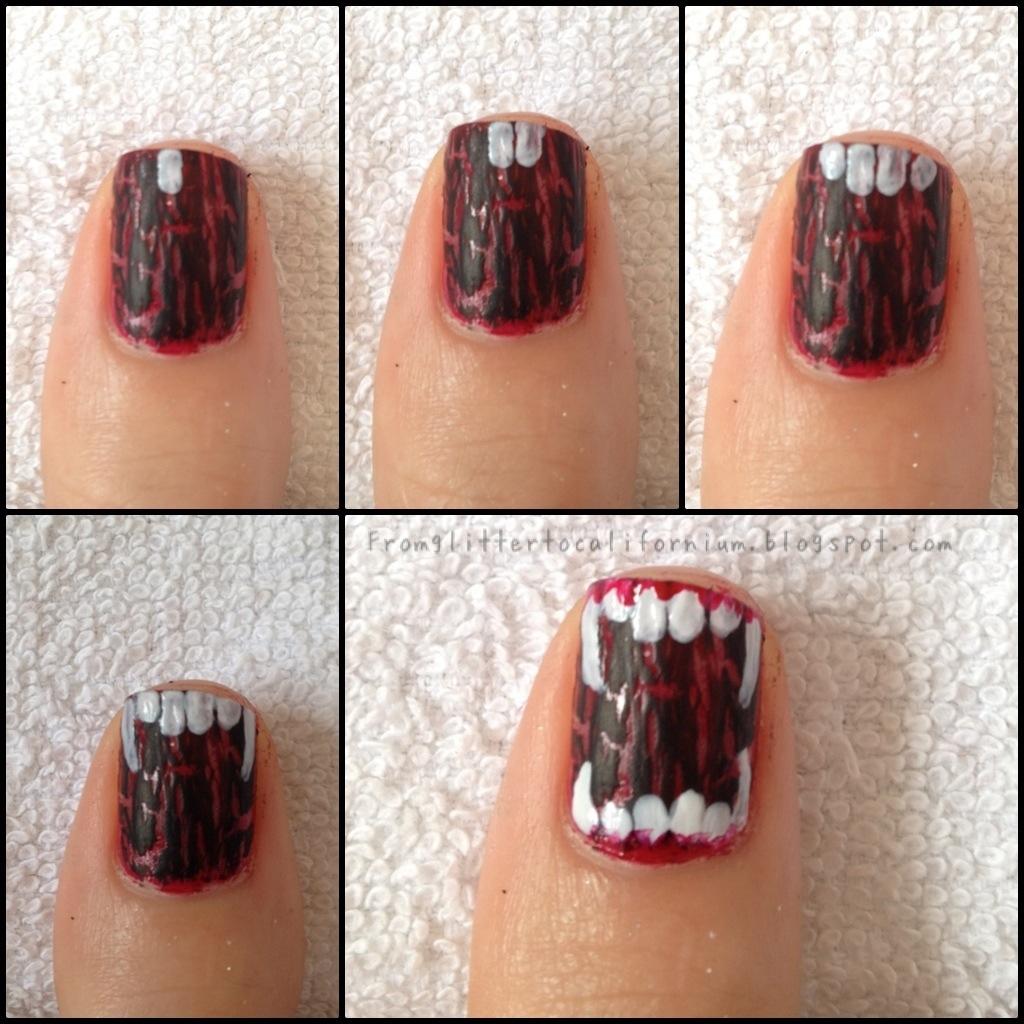 Halloween Nails   FromGlitterToCalifornium
