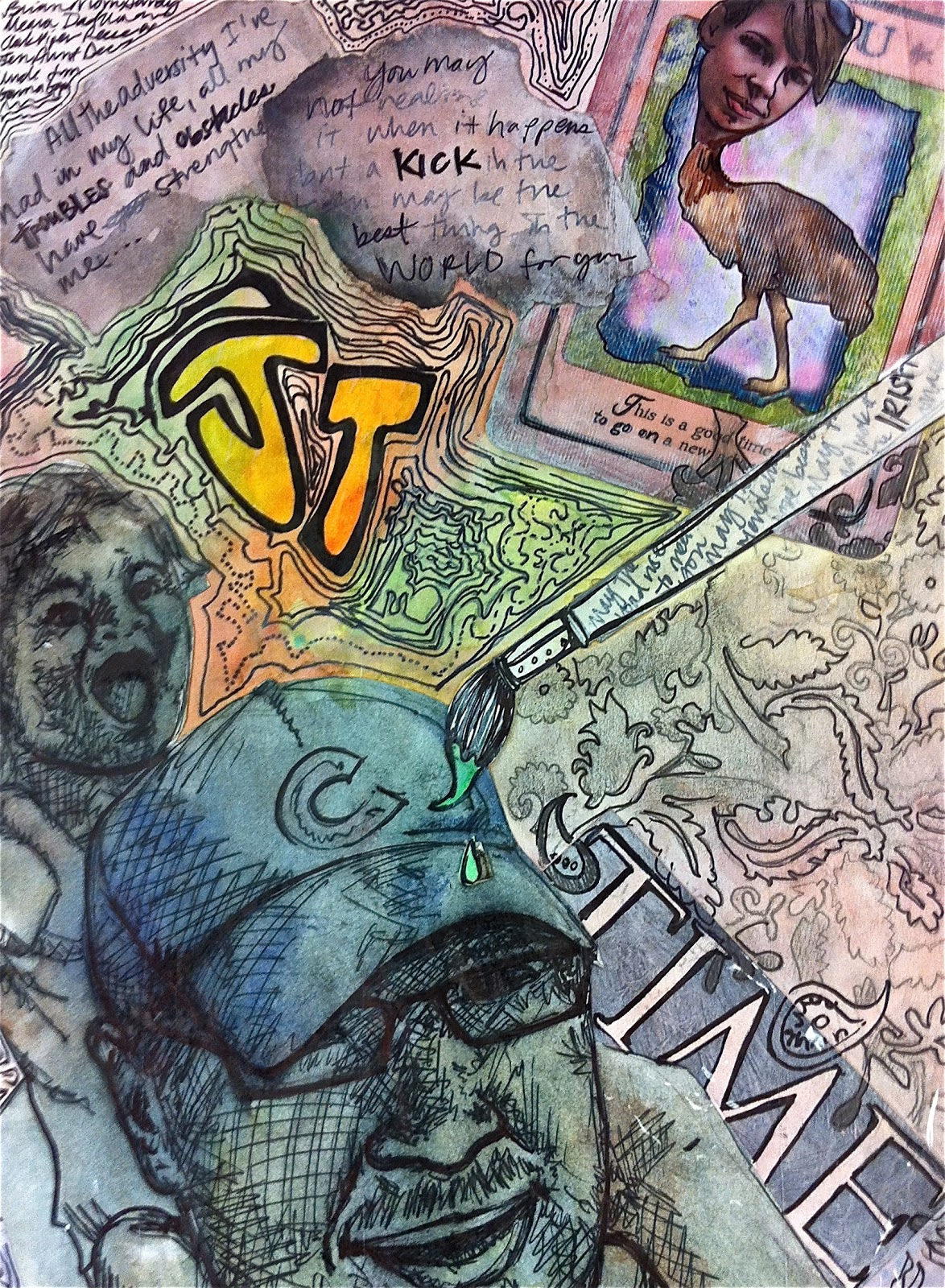 Identity Art Project project art-a-day: lesson: identifying my ...