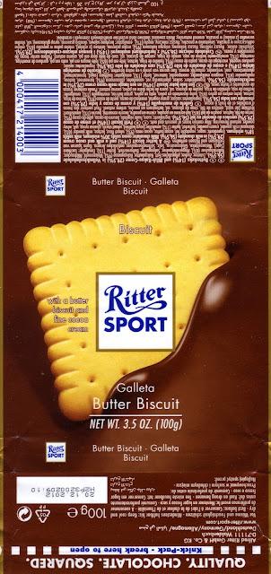 tablette de chocolat lait gourmand ritter sport lait biscuit