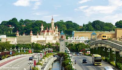 Mua vé máy bay giá rẻ đi Singapore ghé thăm Sentosa