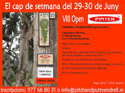 Open Pinter al Pitch & Putt El Vendrell