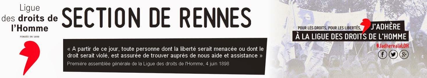La Ligue des droits de l'Homme - Section de Rennes