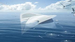 Meriens barco en forma de mantarraya