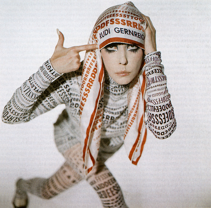 Peggy Moffitt, muse to Rudi Gernreich during the 1960s and 1970s.