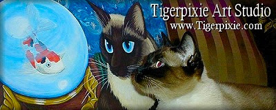 Tigerpixie Art Studio Fantasy cat Art by Carrie Hawks www.Tigerpixie.com