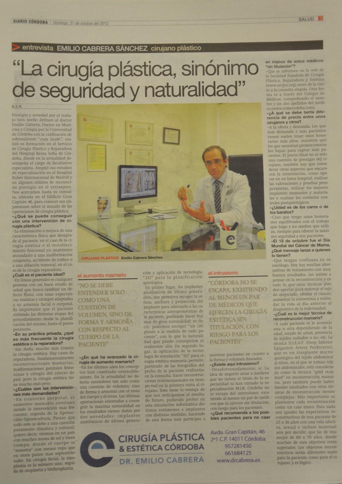 Novedades en Cirugía Plástica Estética Dr. Emilio Cabrera: Cirugía ...