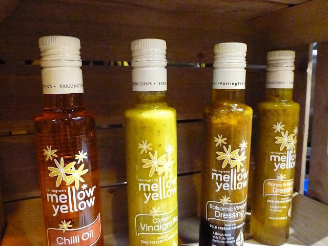 mellow yellow oils, chilli oil, balsamic dressing, farringtons oils, gingey bites