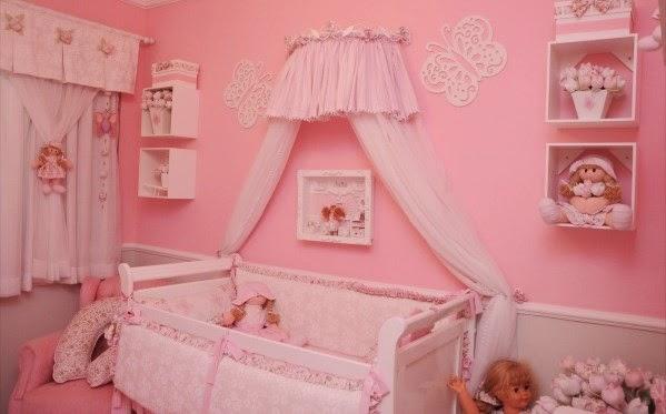 Fotos de dormitorios para bebé en color rosa - Dormitorios ...