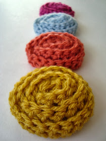 free crochet pattern how to crochet a no sew rosette