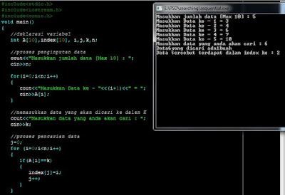 Searching Pada C++