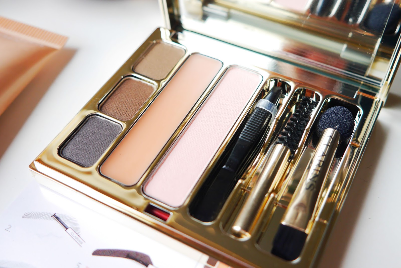 clarins brow and eye palette