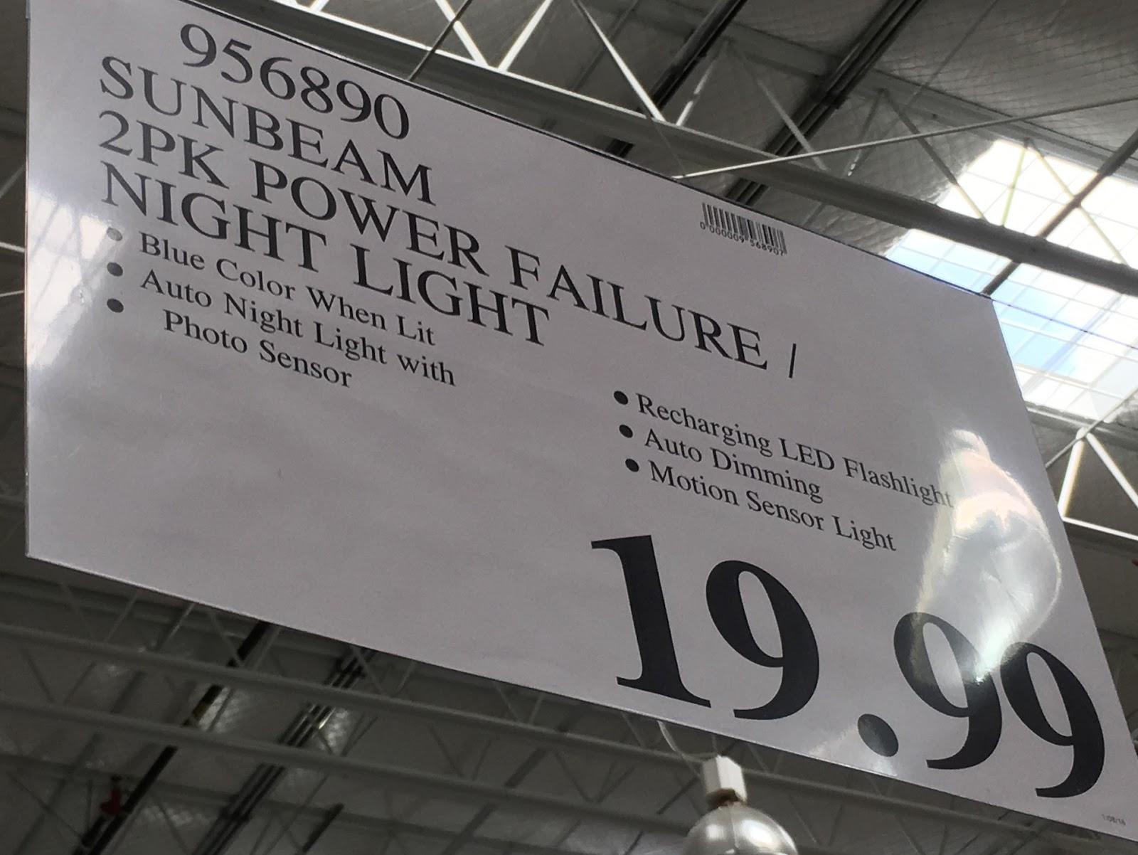 Sunbeam 16 Led Power Failure Night Light 2 Pk Costco