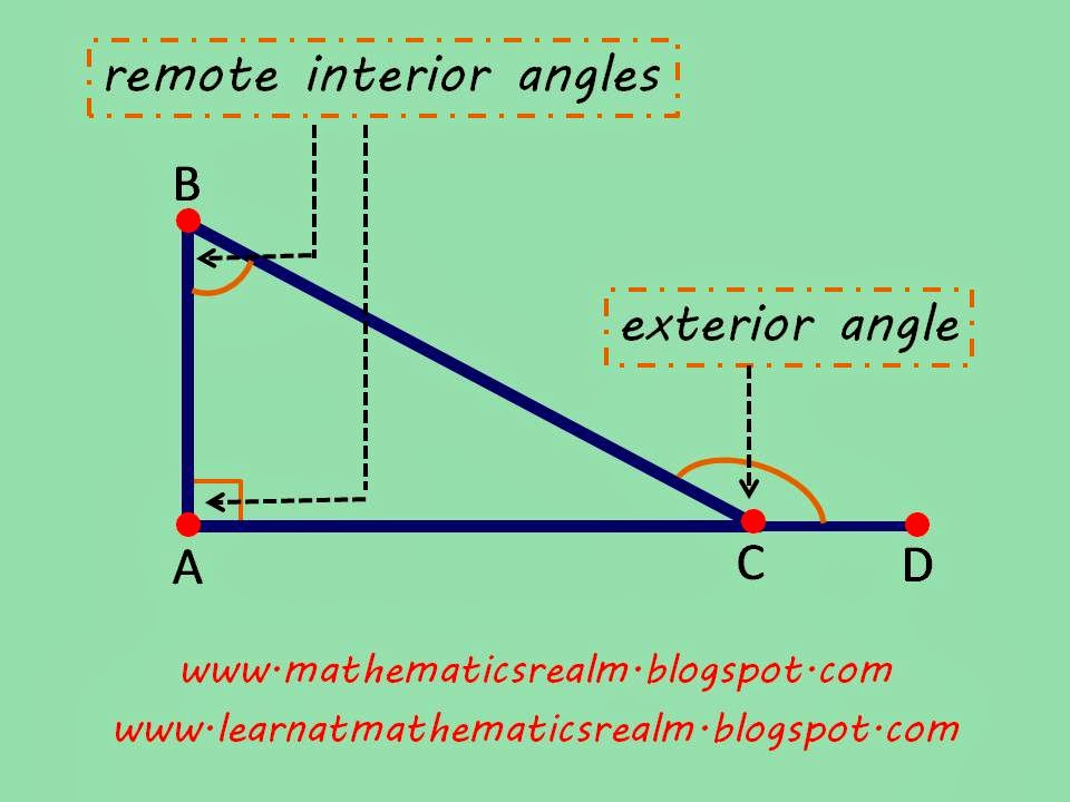 mathematics,angles,geometry,right triangles,interior angles,IGCSE