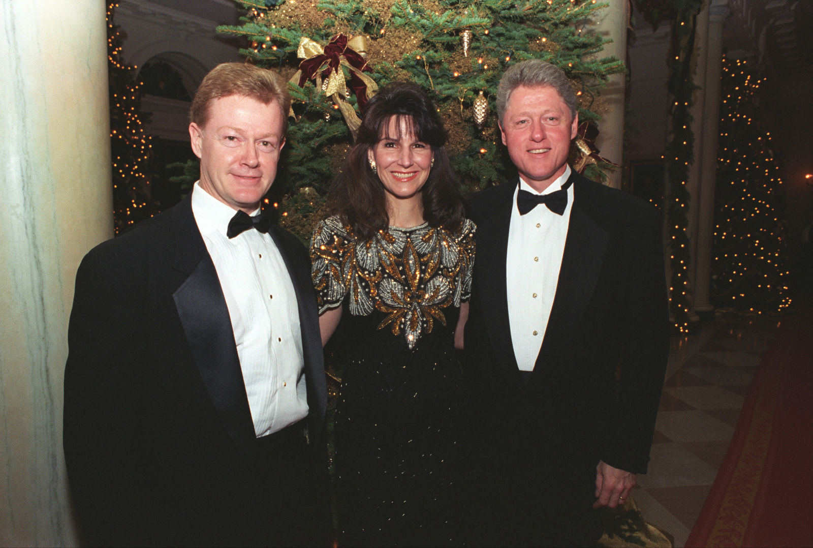 Dan Emmett & wife with President Clinton