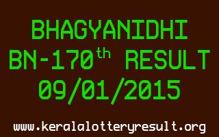 BHAGYANIDHI Lottery BN-170 Result 09-01-2015