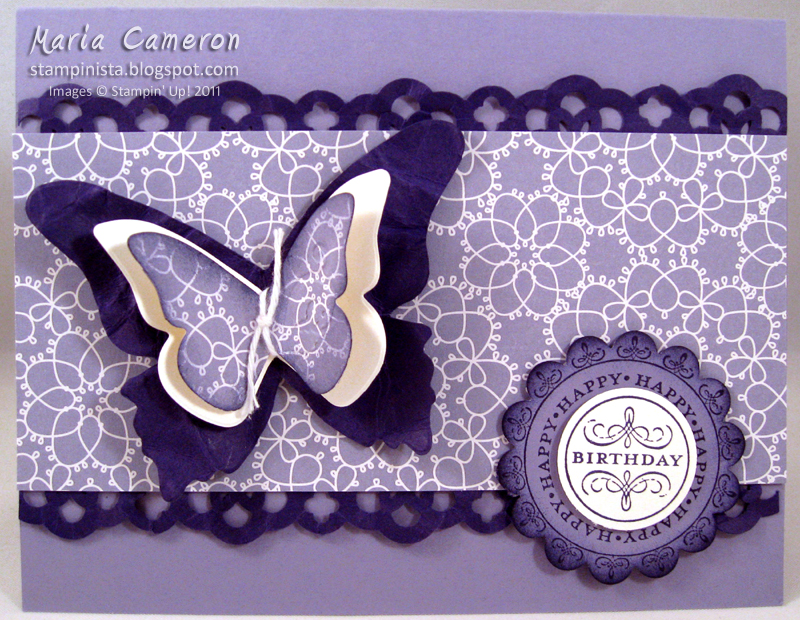 This card's monochromatic color scheme was inspired by the Wisteria pattern