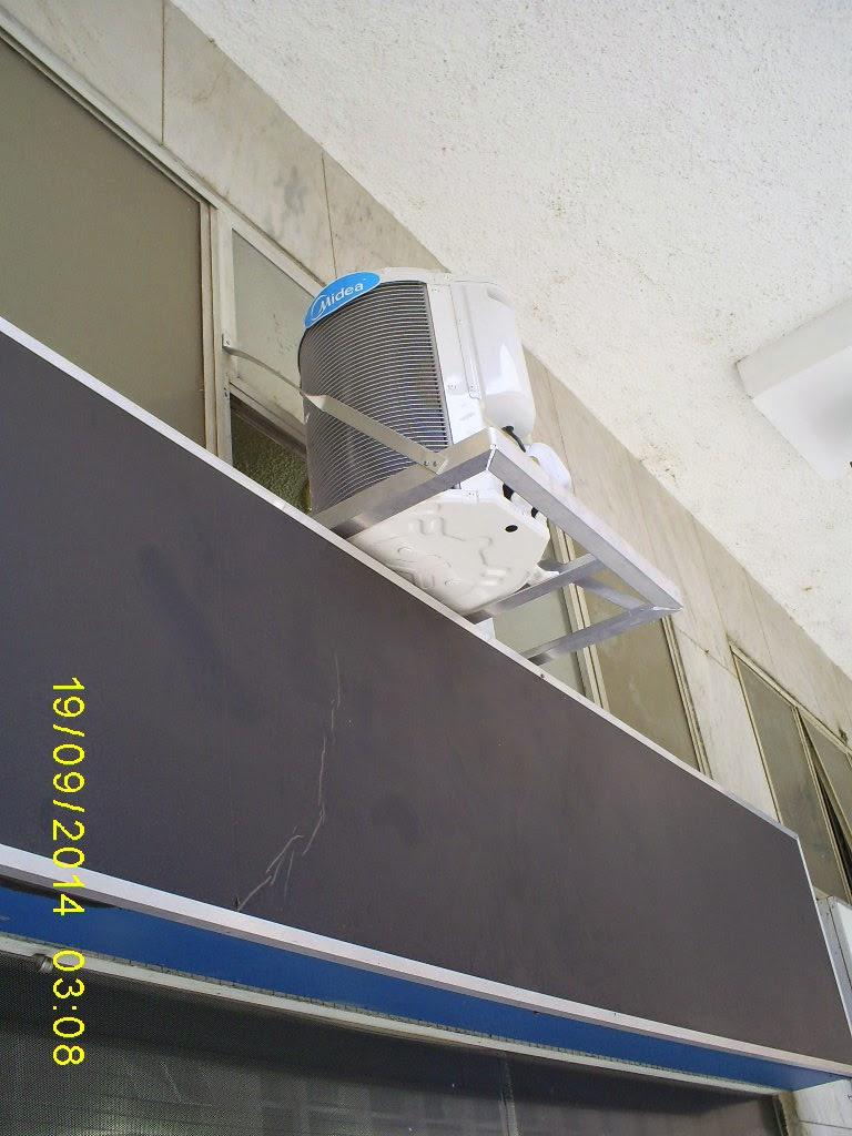 Instalação do Split Midea Luna 12.000 BTU nas dependências do Curso Graph-it