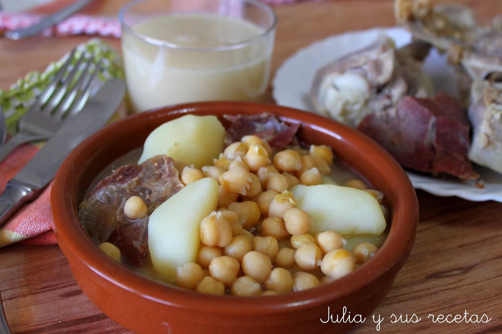 Julia y sus recetas cocido cl sico light en olla r pida - Patatas en olla rapida ...