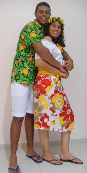 Vestido festa hawai
