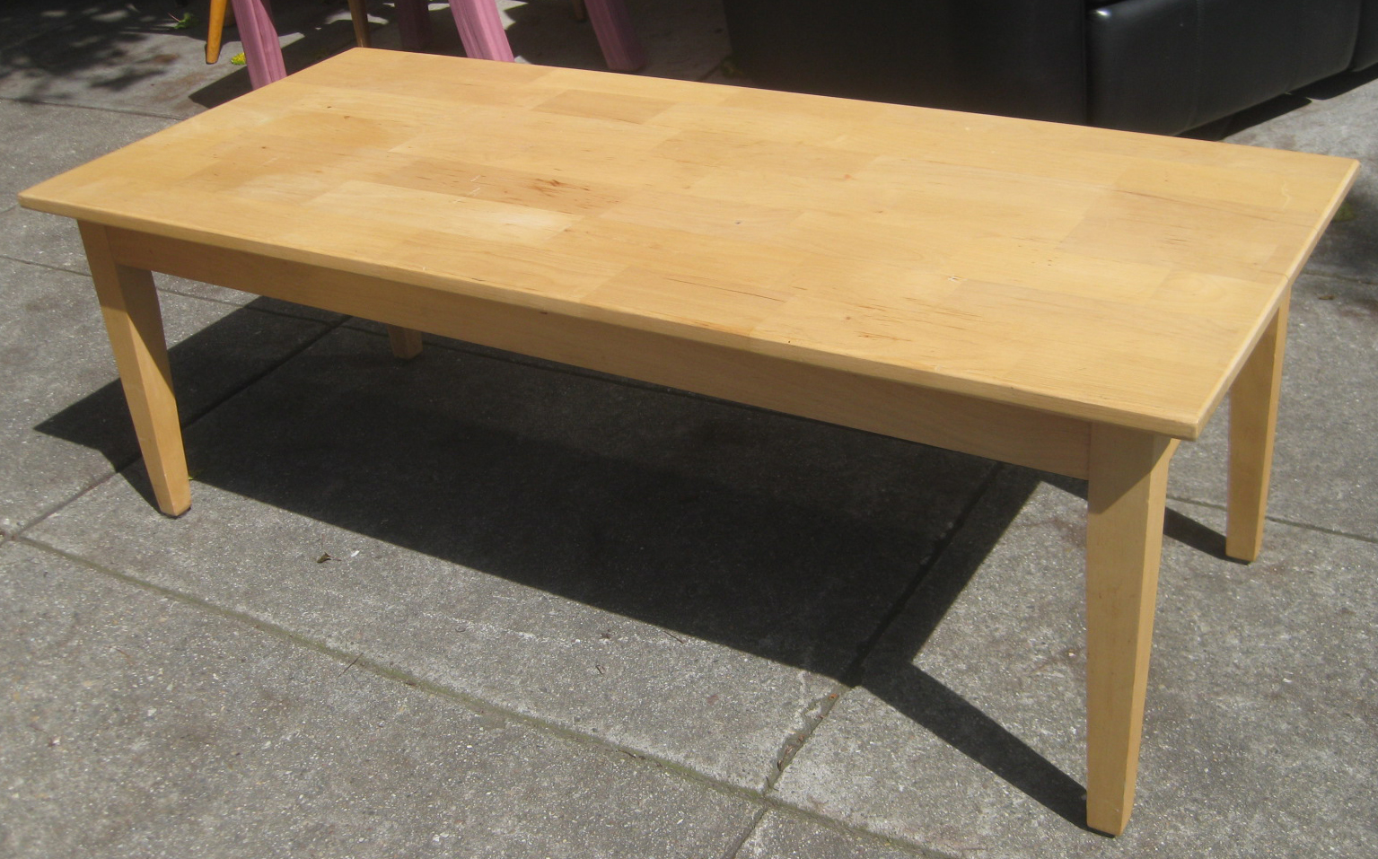 Uhuru Furniture Collectibles Sold Butcher Block Coffee Table 50