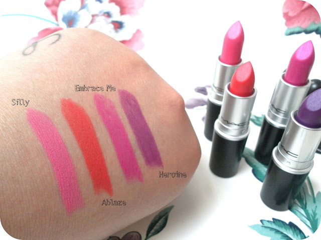 A picture of MAC Fashion Sets Lipsticks Swatches