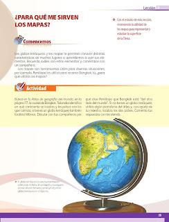 Apoyo Primaria Geografía 5to grado Bloque I Lección 3 ¿Para qué me sirven los mapas?