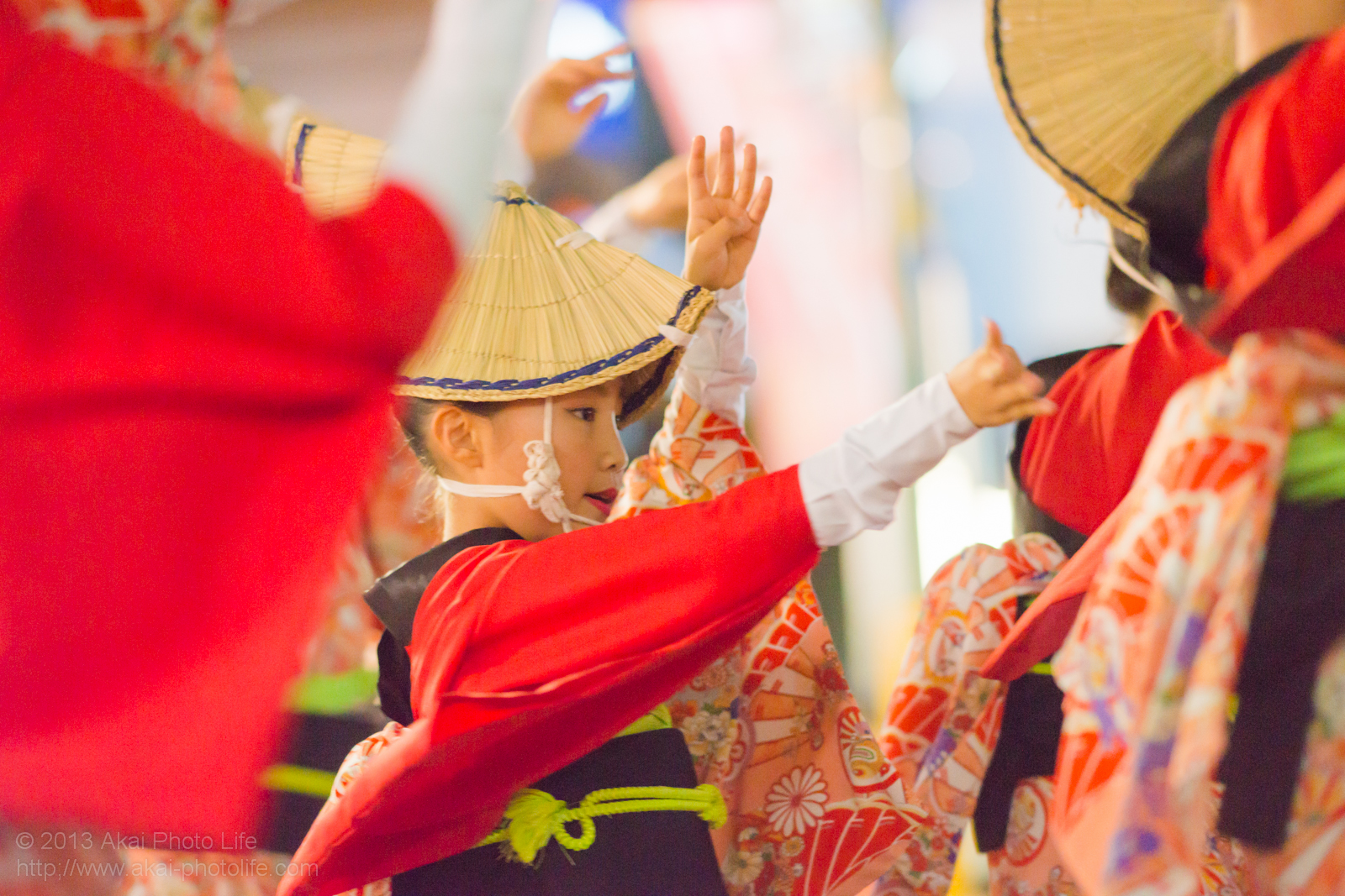 踊れ西八夏まつり、弐穂連の子供の女踊り