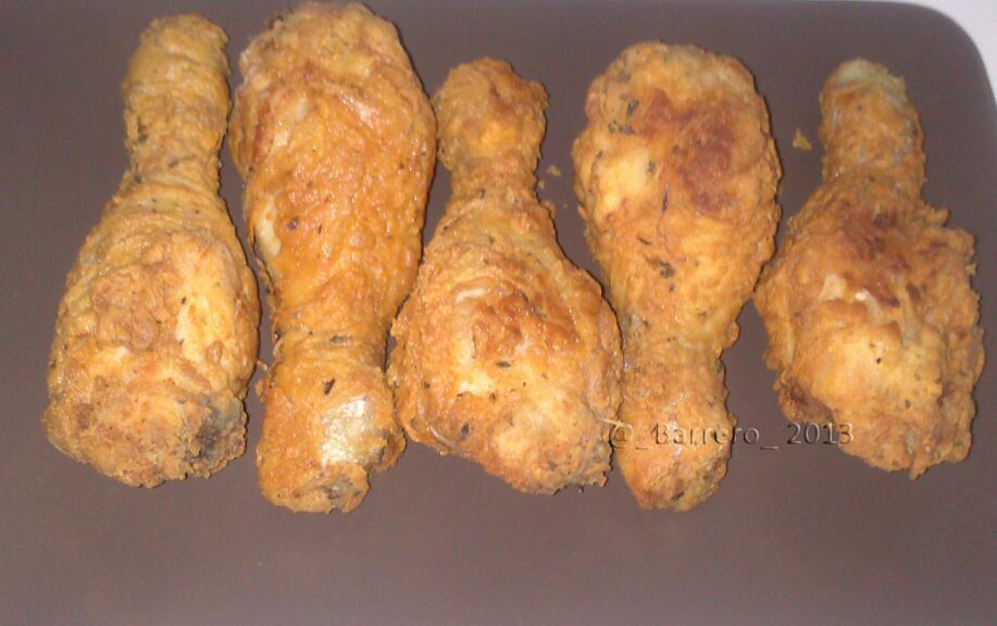 Icocina y punto muslos de pollo crujientes for Cocinar 2 muslos de pollo