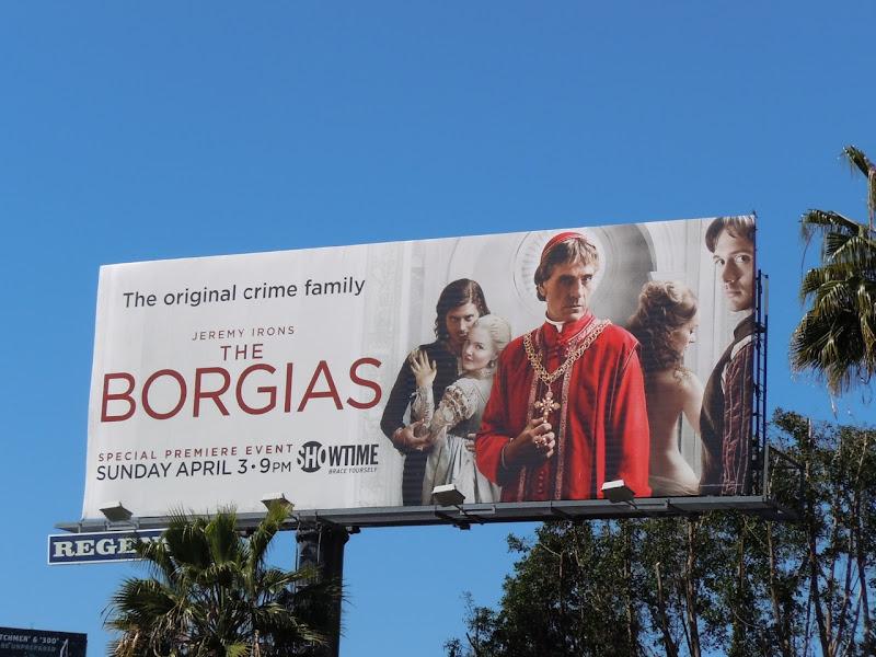 The Borgias Showtime billboard