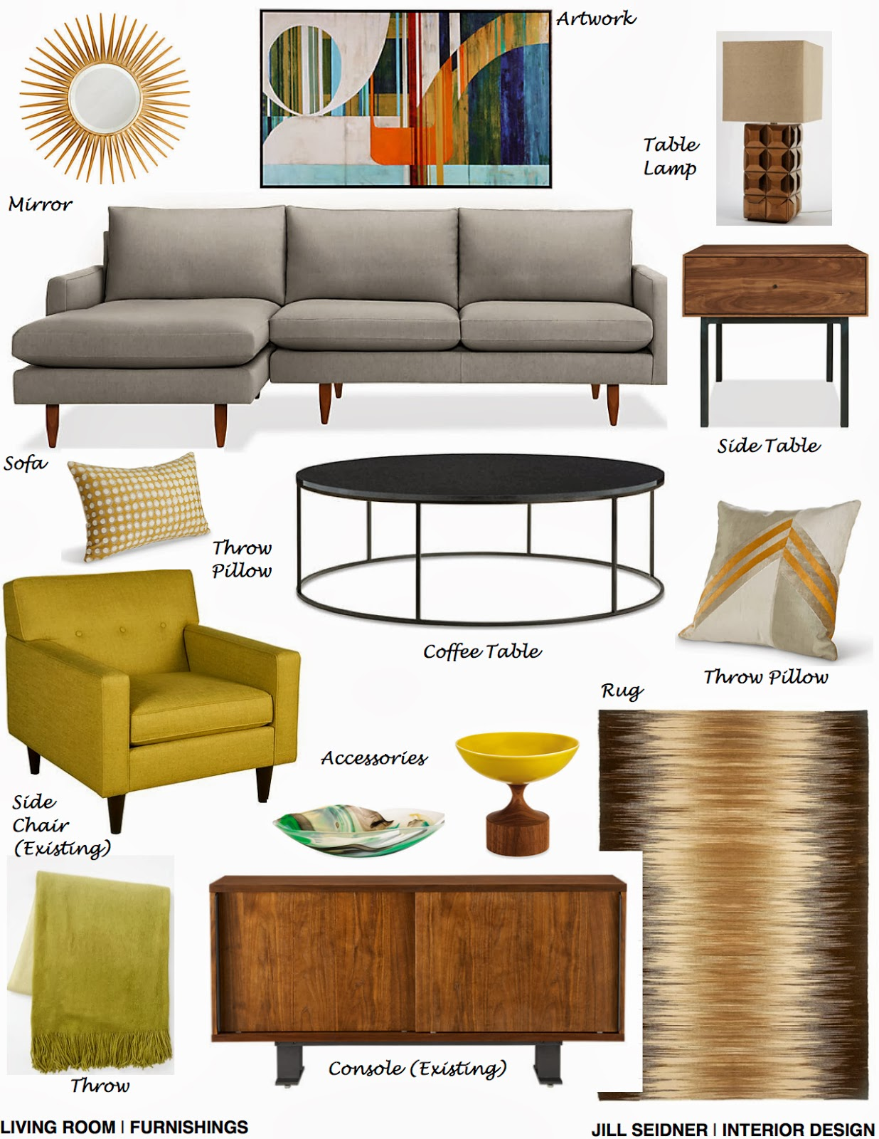Jill seidner interior design concept boards for Interior design concept