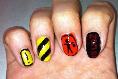 nail me, nail art, anna, construction, zombie