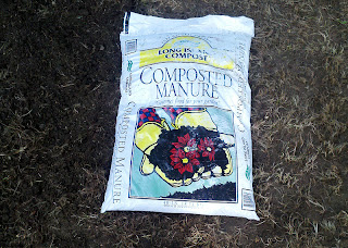 Before and After photo of compost application to soil