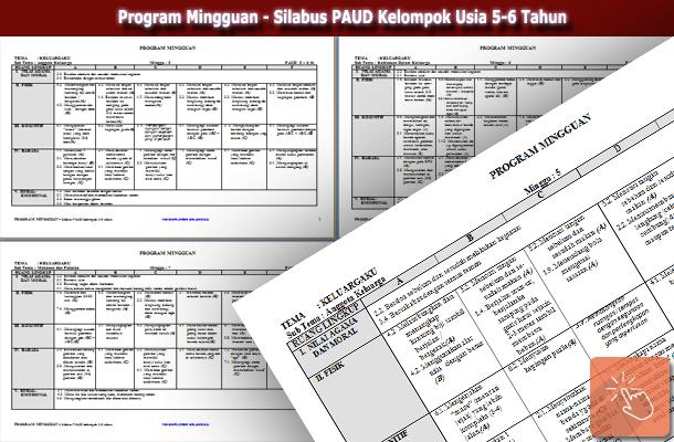Program Mingguan - Silabus PAUD Kelompok Usia 5-6 Tahun