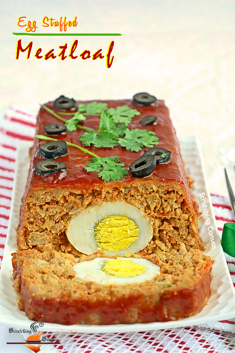 Recipe | Egg stuffed Meatloaf with Buttermilk Mashed ...