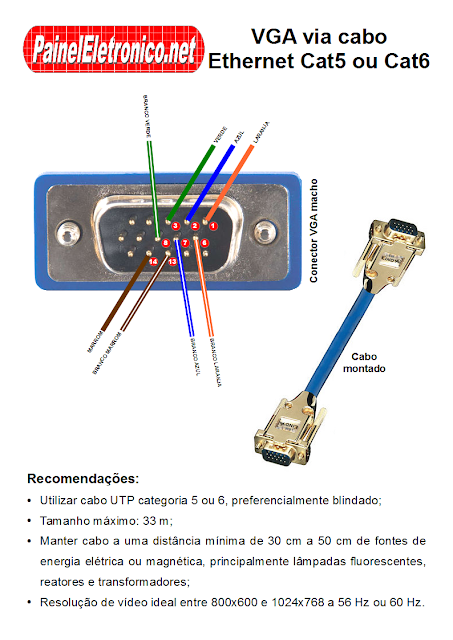 Vga кабель для монитора своими руками