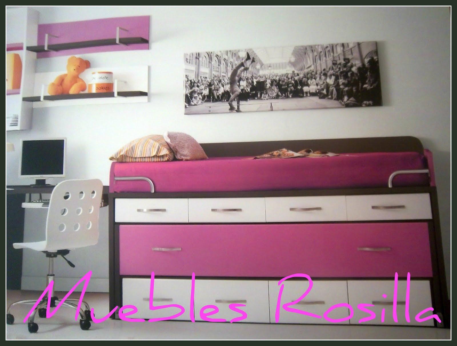 Muebles rosilla herv s dormitorios juveniles for Habitaciones juveniles completas baratas