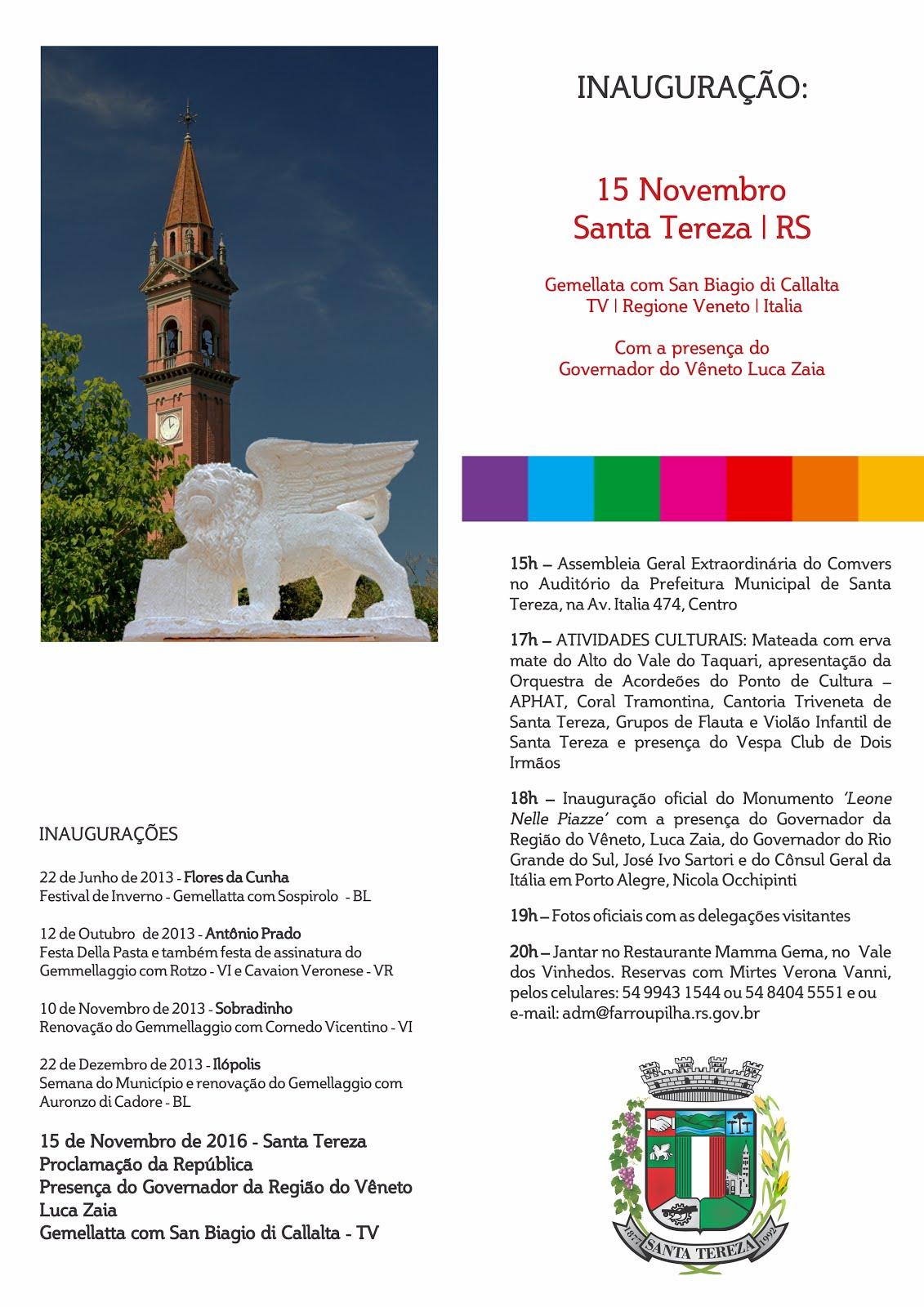 Convite Santa Tereza - Verso