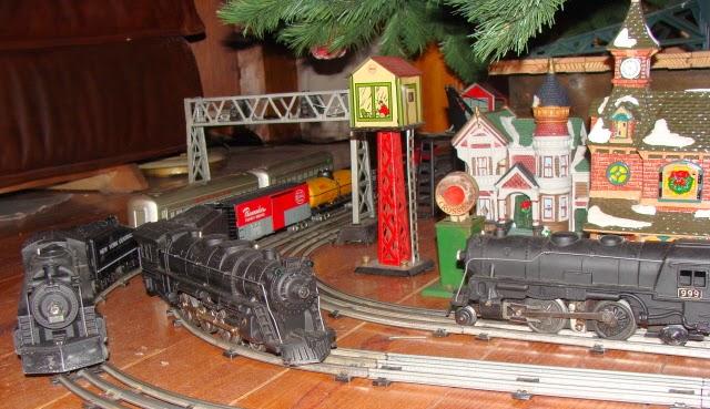 christmas train layout 3