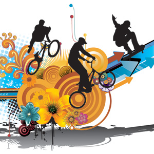 Lifestyle, Sport, Vector, Lifestyle Sport Vector