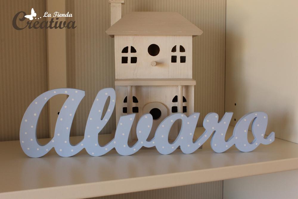 La tienda creativa letras para decorar y mucho m s letras infantiles alvaro - Letras decoradas infantiles ...
