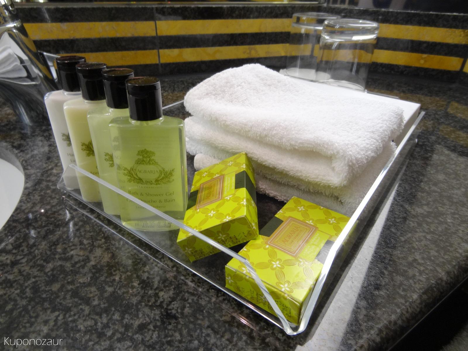 Hotel InterContinental Frankfurt mydełka przybory toaletowe