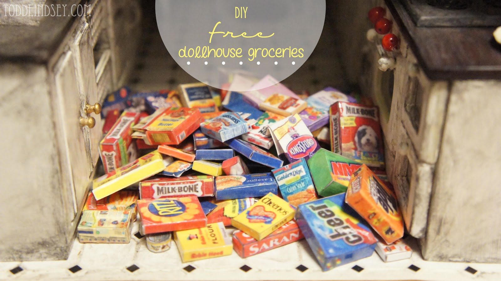 Domer Home Diy Free Dollhouse Groceries
