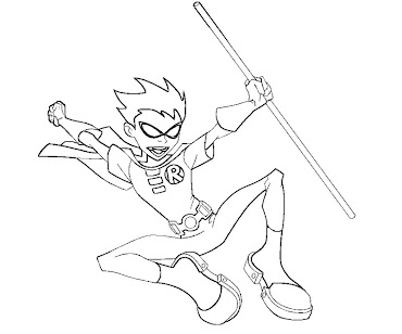 #6 Robin Coloring Page