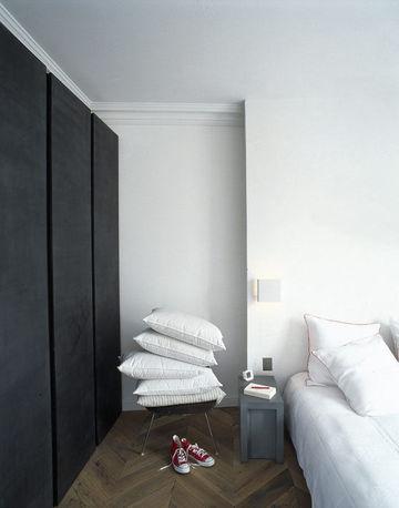 habitación adolescente en blanco y negro. trendy children