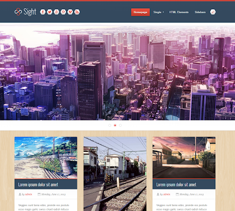 Sight Blogger Theme